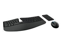 Sculpt Ergonomic Desktop - Set aus Tastatur, Maus und Ziffernblock - kabellos - 2.4 GHz - Ungarisch