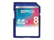 SILICON POWER - Flash-Speicherkarte - 8 GB - Class 4 - SDHC
