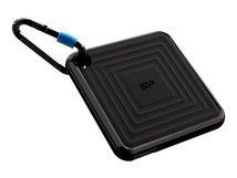 SILICON POWER PC60 - Solid-State-Disk - 240 GB - extern (tragbar) - USB 3.2 Gen 2 - Schwarz