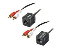 Stereo Audio Extender Cat.5/6 (Transmitter and Receiver units) - Audio-Verlängerungskabel - bis zu 100 m