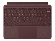 Surface Go Signature Type Cover - Tastatur - mit Trackpad, Beschleunigungsmesser - hinterleuchtet - Deutsch - Weinrot