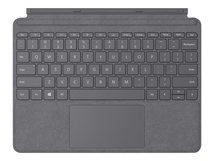 Surface Go Type Cover - Tastatur - mit Trackpad, Beschleunigungsmesser - hinterleuchtet - Deutsch - Platin