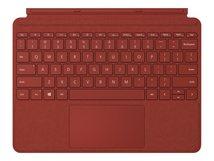 Surface Go Type Cover - Tastatur - mit Trackpad, Beschleunigungsmesser - hinterleuchtet - Deutsch - Poppy Red
