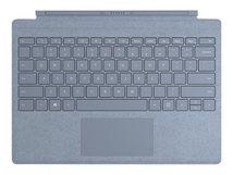 Surface Pro Signature Type Cover - Tastatur - mit Trackpad - hinterleuchtet - Deutsch - Eisblau