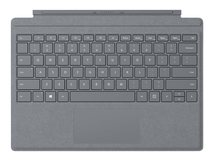 Surface Pro Signature Type Cover - Tastatur - mit Trackpad - hinterleuchtet - Deutsch - Light Charcoal