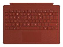 Surface Pro Signature Type Cover - Tastatur - mit Trackpad - hinterleuchtet - Deutsch - Poppy Red