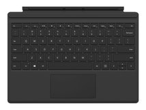 Surface Pro Type Cover (M1725) - Tastatur - mit Trackpad, Beschleunigungsmesser - britisch - Schwarz - kommerziell