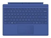 Surface Pro Type Cover - Tastatur - hinterleuchtet - Deutsch - Blau - für Surface Pro 3