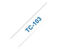 TC103 - 12 mm x 7.7 m - blau auf durchsichtig - laminiertes Band - für P-Touch PT-2000, PT-3000, PT-500, PT-5000, PT-8E