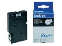 TC201A - Schwarz auf Weiß - Rolle (1,2 cm x 7,7 m) 10 Rolle(n) laminiertes Band - für P-Touch PT-2000, PT-3000, PT-500, PT-5000, PT-8E