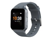 TCL Safety Watch MT43AX - Intelligente Uhr mit Band - grau - 4 GB - Bluetooth - 4G