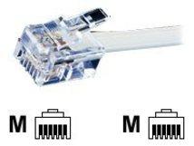 - Telefonkabel - RJ-12 (M) bis RJ-12 (M) - 6 m - ungeschirmt - flach
