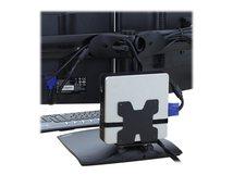 Thin Client Mount - Befestigungskit (Halter, Befestigungsteile, Gurt) für Personal-Computer - Schwarz - Stangenbefestigung - für P/N: 45-353-026, 45-354-026