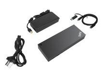 ThinkPad Hybrid USB-C with USB-A Dock - Docking Station - USB-C - 2 x HDMI, 2 x DP - GigE - 135 Watt