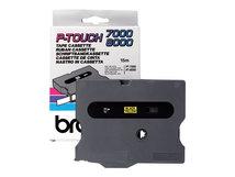 TX631 - Schwarz auf Gelb - Rolle (1,2 cm x 15 m) 1 Rolle(n) laminiertes Band - für P-Touch PT-30, PT-7000, PT-8000, PT-PC