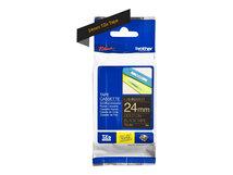 TZe-354 - Selbstklebend - gold auf schwarz - Rolle (2,4 cm x 8 m) 1 Kassette(n) laminiertes Band - für Brother PT-D600; P-Touch PT-3600, D800, E550, E800, P750, P900, P950; P-Touch EDGE PT-P750