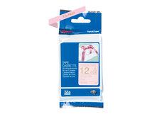 TZe-RE34 - Gold auf Pink - Rolle (1,2 cm x 4 m) 1 Rolle(n) Band - für Brother PT-D600, H110; P-Touch PT-D450; P-Touch Cube PT-P300; P-Touch Embellish PT-D215