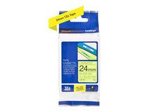 TZeC51 - Schwarz auf Gelb - Rolle (2,4 cm x 5 m) 1 Rolle(n) Fluoriszierende Bänder - für P-Touch PT-2470, 2730, 3600, 9700, 9800, D600, D800, E550, H500, P700, P750, P900, P950