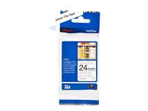 TZeN251 - Schwarz auf Weiß - Rolle (2,4 cm x 8 m) 1 Rolle(n) nicht-laminiertes Schriftband - für P-Touch PT-D800, E550, E800, P900, P950; P-Touch Cube Plus PT-P710; P-Touch EDGE PT-P750