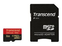 Ultimate - Flash-Speicherkarte (microSDHC/SD-Adapter inbegriffen) - 8 GB - UHS Class 1 / Class10 - 600x - microSDHC UHS-I