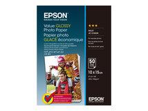 Value - Glänzend - 100 x 150 mm - 183 g/m² - 50 Blatt Fotopapier - für Epson L382, L386, L486; Expression Home HD XP-15000; Expression Premium XP-900