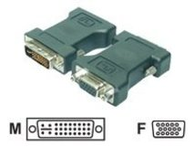 - VGA-Adapter - HD-15 (VGA) (W) bis DVI-I (M) - Daumenschrauben - Schwarz
