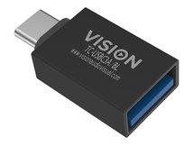 Vision Professional - USB-Adapter - USB-C (M) bis USB Typ A (W) - USB 3.0 - Schwarz