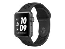 Watch Nike+ Series 3 (GPS) - 38 mm - Weltraum grau Aluminium - intelligente Uhr mit Nike Sportband - Flouroelastomer - anthrazit/schwarz