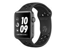 Watch Nike+ Series 3 (GPS) - 42 mm - Weltraum grau Aluminium - intelligente Uhr mit Nike Sportband - Flouroelastomer - anthrazit/schwarz