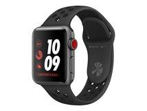Watch Nike+ Series 3 (GPS + Cellular) - 38 mm - Space grau Aluminium - intelligente Uhr mit Nike Sportband - Flouroelastomer - anthrazit/schwarz