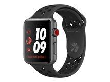Watch Nike+ Series 3 (GPS + Cellular) - 42 mm - Weltraum grau Aluminium - intelligente Uhr mit Nike Sportband - Flouroelastomer - anthrazit/schwarz