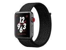 Watch Nike+ Series 3 (GPS + Cellular) - 42 mm - Weltraum grau Aluminium - intelligente Uhr mit Nike Sportschleife - gewebtes Nylon - schwarz/pures Platin