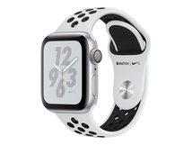 Watch Nike+ Series 4 (GPS) - 40 mm - Aluminium, Silber - intelligente Uhr mit Nike Sportband - Flouroelastomer - pures Platin/schwarz