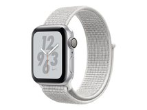 Watch Nike+ Series 4 (GPS) - 40 mm - Aluminium, Silber - intelligente Uhr mit Nike Sportschleife - gewebtes Nylon - Summit White