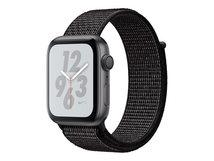 Watch Nike+ Series 4 (GPS) - 40 mm - Weltraum grau Aluminium - intelligente Uhr mit Nike Sportschleife - gewebtes Nylon - schwarz