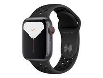 Watch Nike Series 5 (GPS + Cellular) - 40 mm - Space grau Aluminium - intelligente Uhr mit Nike Sportband - Flouroelastomer - anthrazit/schwarz