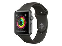 Watch Series 3 (GPS) - 42 mm - Weltraum grau Aluminium - intelligente Uhr mit Sportband - Flouroelastomer - grau