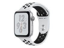 Watch Series 4 (GPS) - 40 mm - Aluminium, Silber - intelligente Uhr mit Sportband - Flouroelastomer - weiß