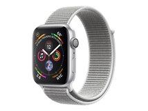 Watch Series 4 (GPS) - 40 mm - Aluminium, Silber - intelligente Uhr mit Sportschleife - gewebtes Nylon - Muschelschale