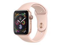 Watch Series 4 (GPS) - 40 mm - Gold Aluminium - intelligente Uhr mit Sportband - Flouroelastomer - rosa sandfarben