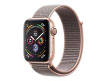 Watch Series 4 (GPS) - 40 mm - Gold Aluminium - intelligente Uhr mit Sportschleife - gewebtes Nylon - rosa sandfarben