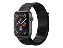Watch Series 4 (GPS) - 44 mm - Weltraum grau Aluminium - intelligente Uhr mit Sportschleife - gewebtes Nylon - schwarz