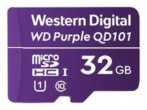 WD Purple SC QD101 WDD032G1P0C - Flash-Speicherkarte - 32 GB - UHS-I U1 / Class10 - microSDHC - lila