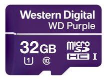 WD Purple WDD032G1P0A - Flash-Speicherkarte - 32 GB - UHS-I U1 / Class10 - microSDHC - lila