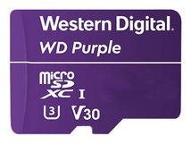 WD Purple WDD128G1P0A - Flash-Speicherkarte - 128 GB - Video Class V30 / UHS-I U3 - microSDXC - lila