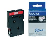 - Weiß, Rot - Rolle (0,9 cm x 7,7 m) 1 Stck. Druckerband - für P-Touch PT-15, PT-20, PT-2000, PT-3000, PT-500, PT-5000, PT-6, PT-8, PT-8E