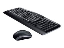 Wireless Combo MK330 - Tastatur-und-Maus-Set - kabellos - 2.4 GHz - International NSEA - Schwarz