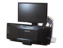 WorkFit-A LCD HD with Worksurface+ Standing Desk - Befestigungskit (Spannbefestigung für Tisch, Pivot, Flexibler Arm, Tastatur-Tablett, Arbeitsoberfläche) für LCD-Bildschirm/Tastatur/Maus - Polished Aluminum - Bildschirmgröße: bis zu 61 cm (bis zu 24 Zoll) - Schreibtisch