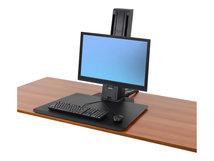 WorkFit-SR Monitor Standing Desk Workstation - Tischhalterung für LCD-Bildschirm/Tastatur/Maus - Aluminium - Schwarz - Bildschirmgröße: bis zu 61 cm (bis zu 24 Zoll) - Klemmmontage