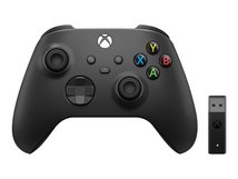 Xbox Wireless Controller + Wireless Adapter for Windows 10 - Game Pad - kabellos - Bluetooth - Carbon Black - für PC, Microsoft Xbox One, Android, iOS, Microsoft Xbox Series S, Microsoft Xbox Series X